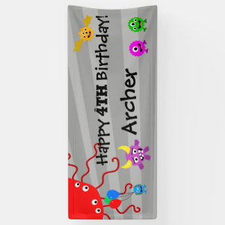 Monster Birthday Party Banner