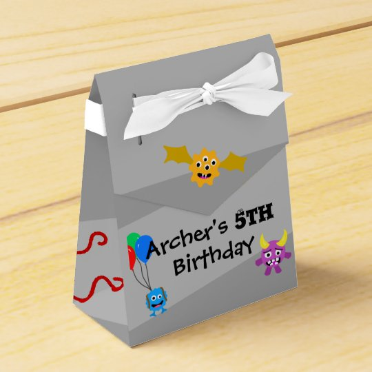 Monster Birthday Party Favours Favor Box