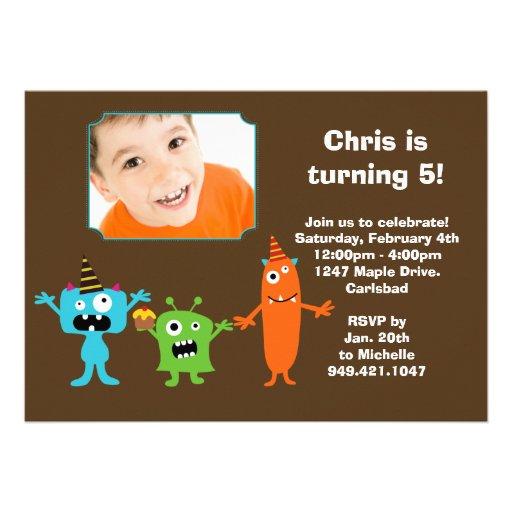 Monster Birthday Party Invitation
