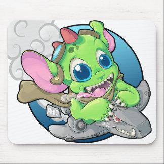 Monster Bomber Pilot Mouse Pad