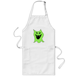 Monster Cartoon Green and Black Aprons