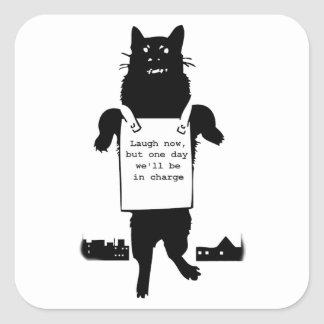 Monster Cat Square Sticker