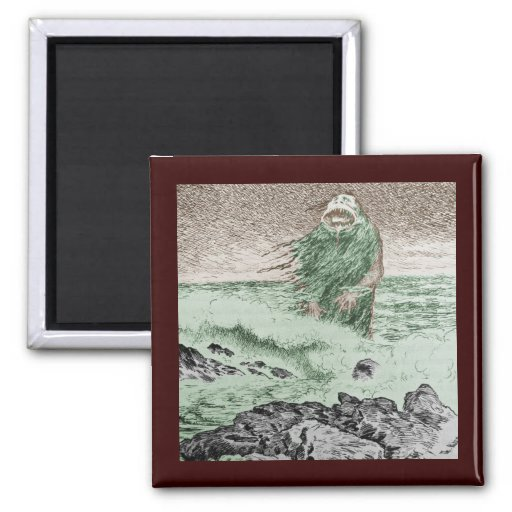 Monster Coming Out of the Water Refrigerator Magnet