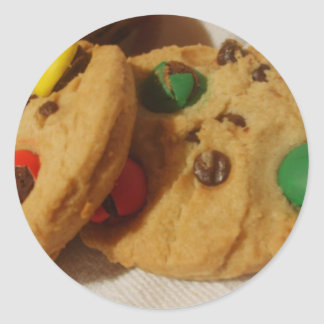 Monster Cookies Classic Round Sticker