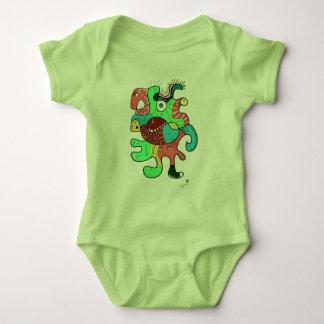 Monster doodle baby bodysuit