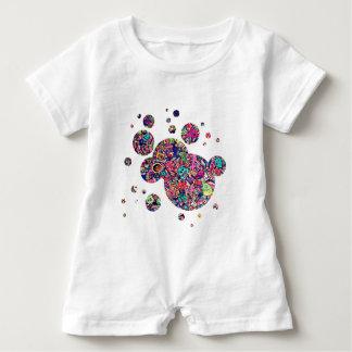 Monster doodle baby romper