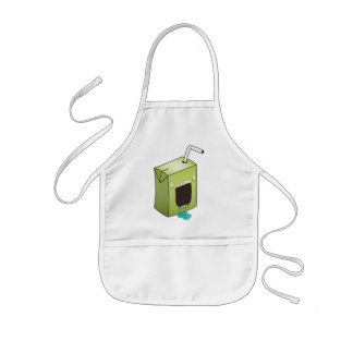 Monster drooling juice box kids apron