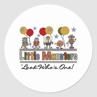 Monster First Birthday Classic Round Sticker