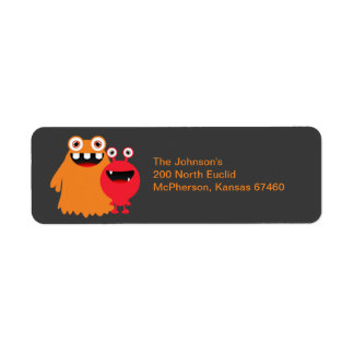 Monster Fun Return Address Label