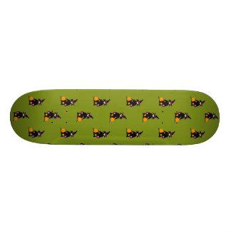 Monster Green Halloween Toddler Witch Skate Board Deck