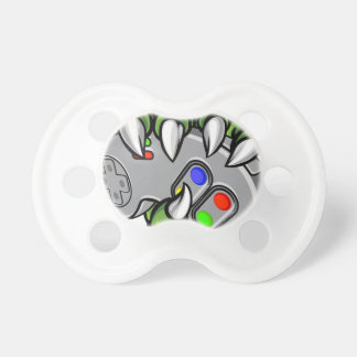 Monster Hand Holding Video Games Controller Pacifier