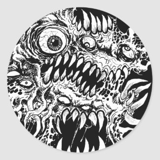 Monster Horror Art Classic Round Sticker
