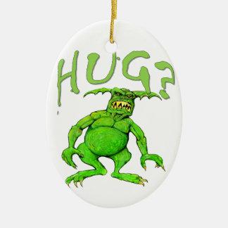 Monster Hug Ceramic Ornament