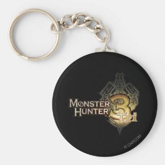 Monster Hunter Tri logo Basic Round Button Keychain