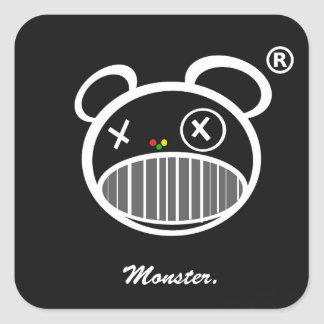 Monster Icon sticker black