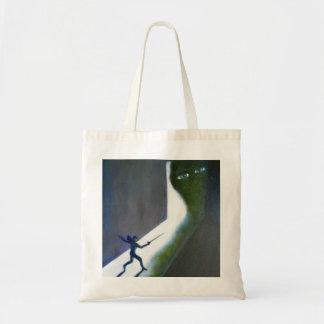 Monster in Doorway Tote Bag