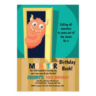 Monster in the Closet Invitation