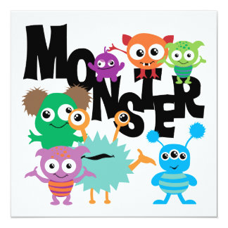 Monster Personalized Invitations