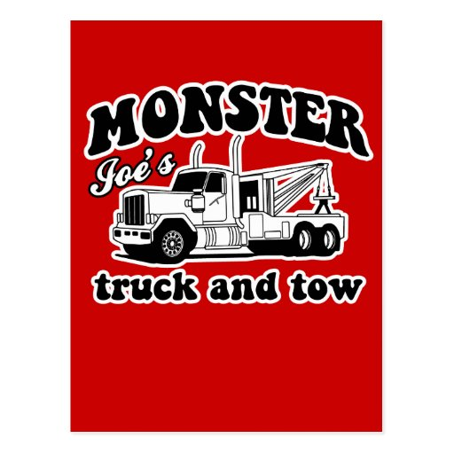 Monster Joe's Truck and Tow Post Card
