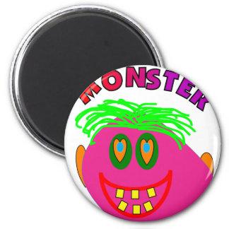 """Monster Kids Gifts """"Adorable Pink Monster Art"""" Magnet"""