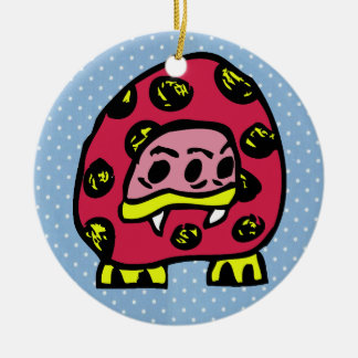 Monster Ladybug Ceramic Ornament