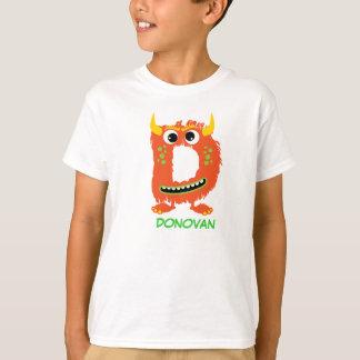 Monster Letters T-Shirt (Letter D)