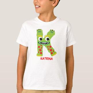 Monster Letters T-Shirt (Letter K)