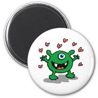 Monster Love 2 Inch Round Magnet