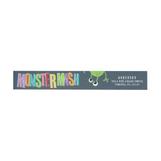 MONSTER MASH BIRTHDAY WRAP AROUND Address Labels