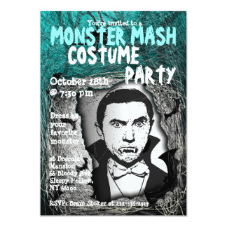 Monster Mash Halloween Costume Party Invitation