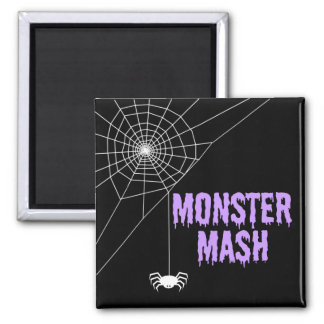 Monster Mash Halloween Spider Web Magnet