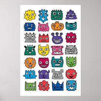 Monster Mash ipad mini Poster