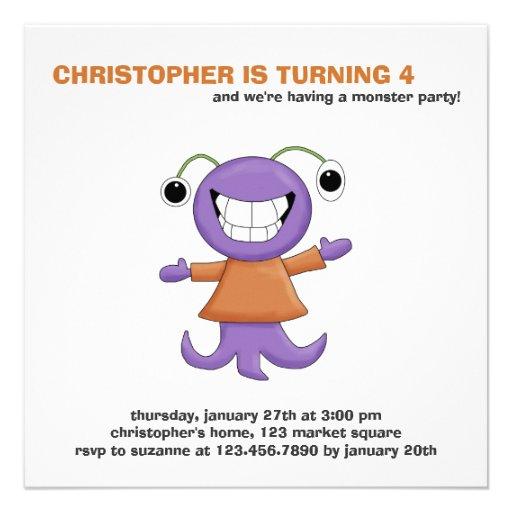 Monster Mash · Purple Monster Invitation