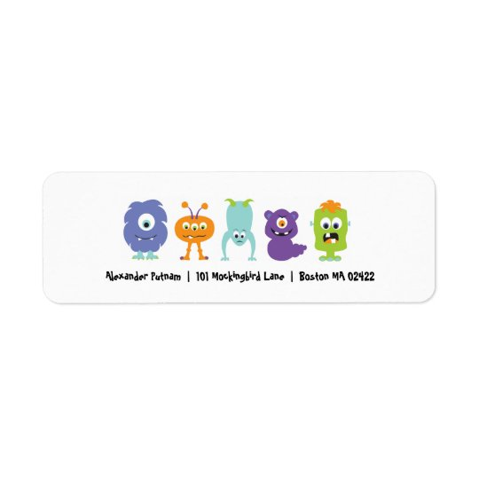 Monster Mash Return Address Label