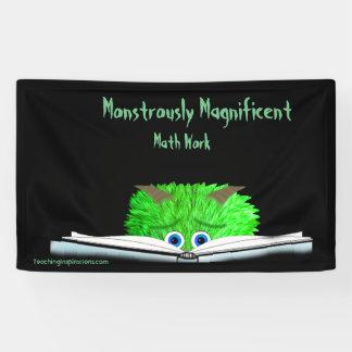 Monster Math Bulletin BOard Banner 3' x 5'