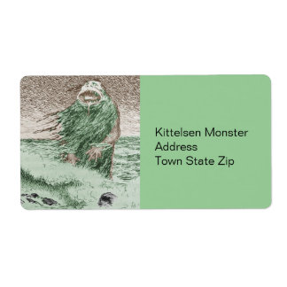 Monster Nokken Walking Out of the Water Shipping Label