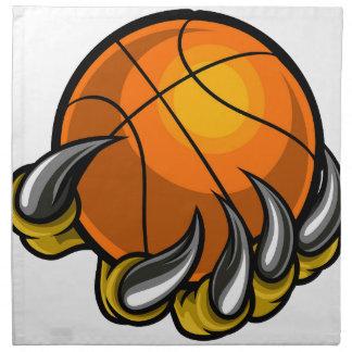 Monster or animal claw holding Basketball Ball Napkin