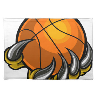 Monster or animal claw holding Basketball Ball Placemat