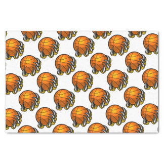 Monster or animal claw holding Basketball Ball Tissue Paper