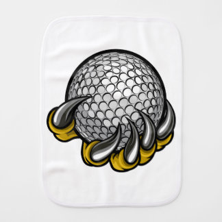 Monster or animal claw holding Golf Ball Burp Cloth