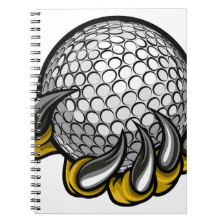 Monster or animal claw holding Golf Ball Notebook
