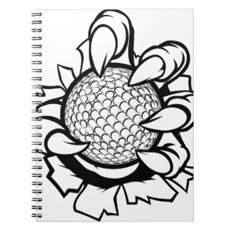 Monster or animal claw holding Golf Ball Notebooks