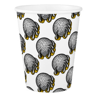 Monster or animal claw holding Golf Ball Paper Cup