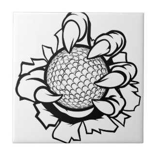Monster or animal claw holding Golf Ball Tile