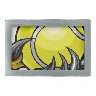 Monster or animal claw holding Tennis Ball Rectangular Belt Buckles