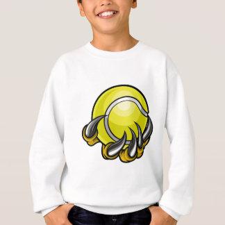 Monster or animal claw holding Tennis Ball Sweatshirt
