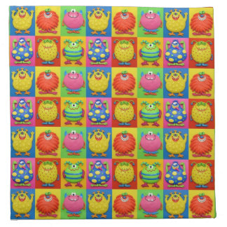 Monster Party Printed Napkin