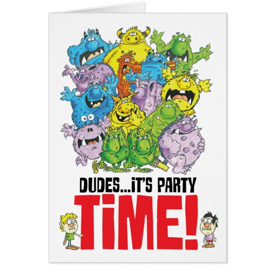 monster party time!!! card
