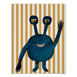 Monster poster, poster monster children's room