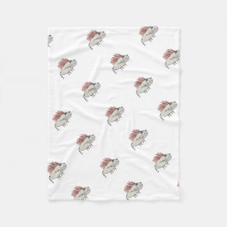 Monster Rat Hand Draw Illustration Fleece Blanket